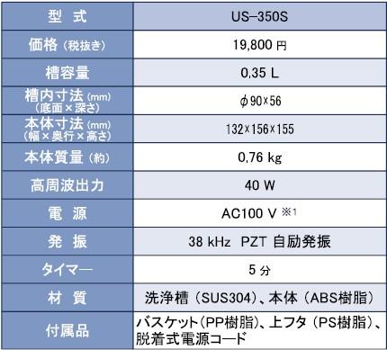 小型超音波洗浄機 価格表
