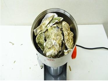 牡蠣殻を粉末にするミル