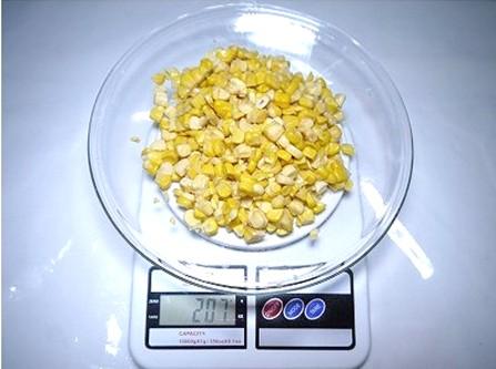 乾燥とうもろこし 乾燥前重量207g