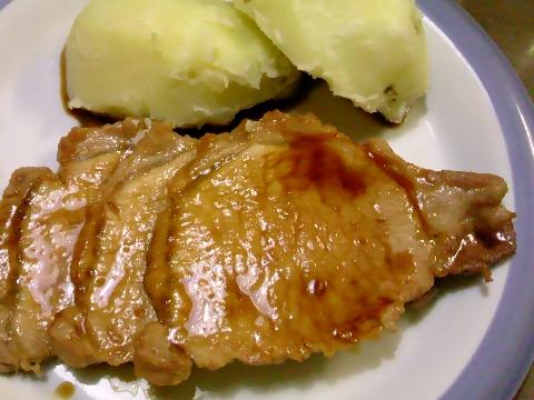 舶来豚ロースの和風ソース仕立て 北海道産馬鈴薯を添えて。