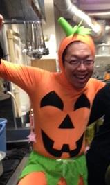 ハロウィンのかぼちゃになったくにぴー