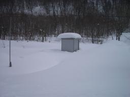 物置除雪前