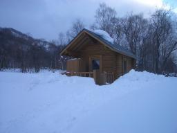 ログハウス除雪後