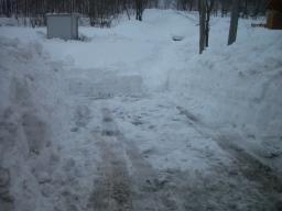 道路除雪終了