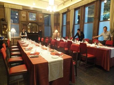 こんなお部屋でディナーです♪