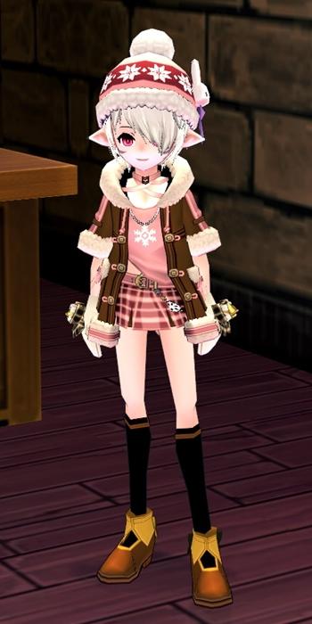 ウサギコート+ニット帽