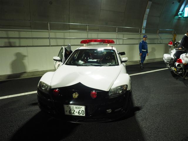 RX−8のパトカー。