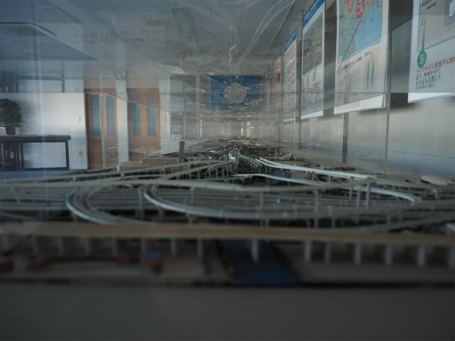 高谷JCTの模型。