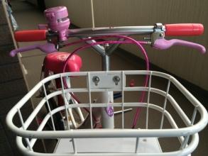 【子供と遊ぶ】 補助輪を外した幼児用自転車にスタンドとライトを取付けする♪
