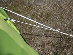 テントに張るロープ(張り綱)