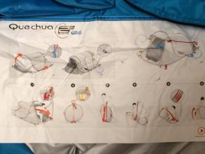 Quechua(ケシュア) 2SECONDS EASY 3 FRESH ポップアップテント 3人用 のマニュアル