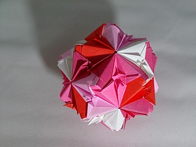 簡単 折り紙 折り紙 くす玉 ユニット : mainitiuniuni.blog.fc2.com