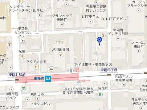 GoogleクリックするとGoogle地図