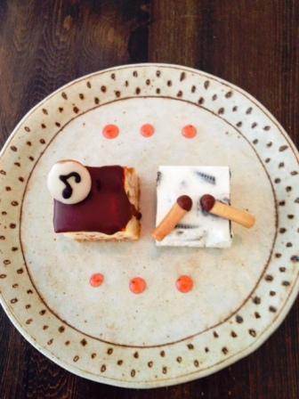 りんさん もっきんケーキ