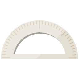 Free illustrations of a protractor