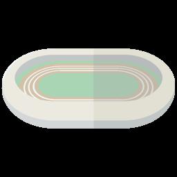 フラットデザインのスタジアムのイラスト
