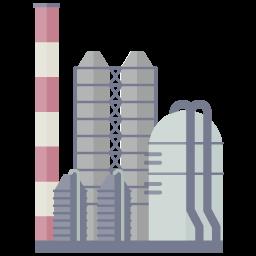 フラットデザインの工場
