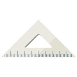 Free illustration of a triangle ruler