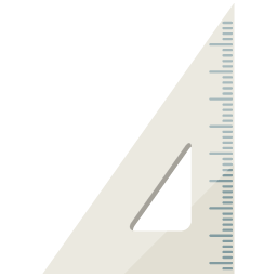 A simple illustration of triangle ruler