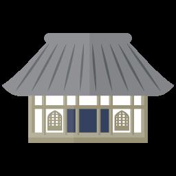 シンプルな日本の寺院のイラスト