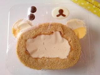 ローソン 自分でつくるリラックマロールケーキ プリンクリームa