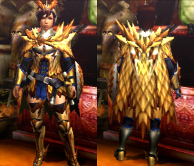 how to change the colour of the armor queen biade