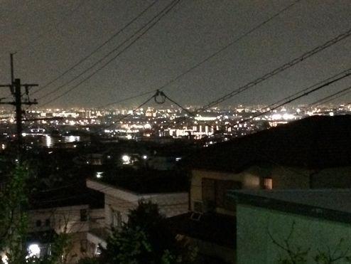 池田市の夜景