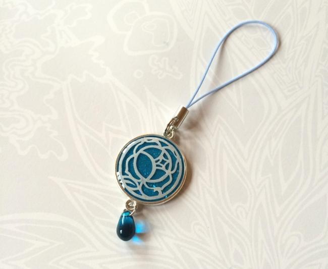 038 UVレジン 少女革命ウテナ 薔薇の刻印 切り絵 指輪