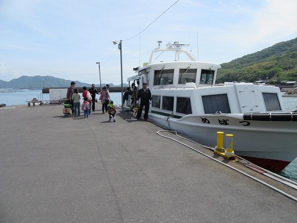 粟島港から定期船に載って 27.4.29