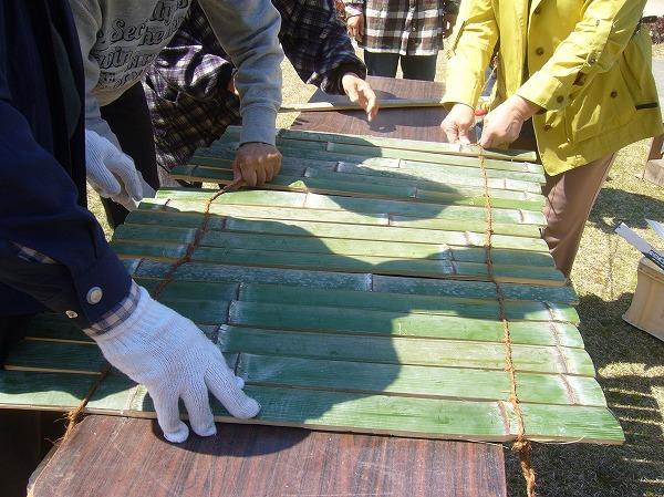 竹を編んで 史跡まつり 27.3.28