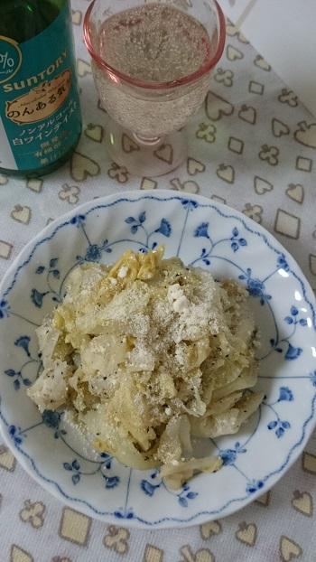 春キャベツゴマ醤油チーズ