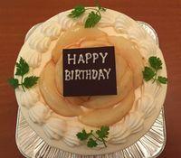 005桃のケーキ