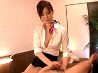 巨乳痴女回春エステ嬢のいやらしすぎる睾丸オイル手コキマッサージ!