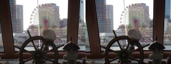 ファンタジー号からの眺め ハーバーランド(平行法)