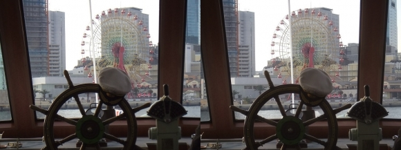 ファンタジー号からの眺め ハーバーランド(交差法)