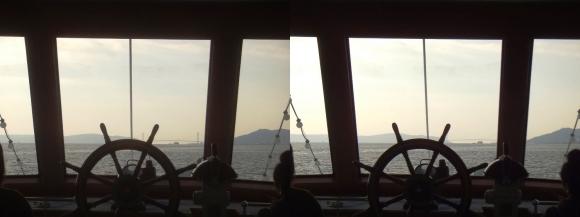ファンタジー号からの眺め 明石海峡大橋③(平行法)