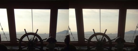 ファンタジー号からの眺め 明石海峡大橋③(交差法)