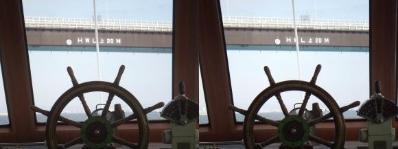 ファンタジー号からの眺め 神戸空港連絡橋②(平行法)