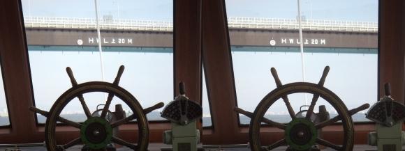 ファンタジー号からの眺め 神戸空港連絡橋②(交差法)