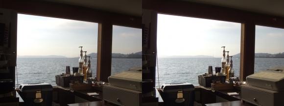ファンタジー号からの眺め 明石海峡大橋②(平行法)