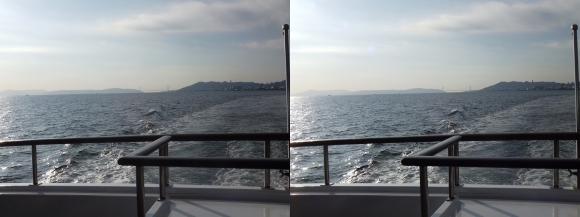 ファンタジー号からの眺め 明石海峡大橋①(平行法)