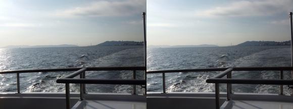 ファンタジー号からの眺め 明石海峡大橋①(交差法)