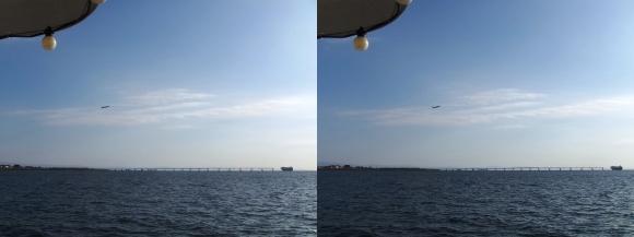 ファンタジー号からの眺め 神戸空港「マリンエア」離陸(平行法)