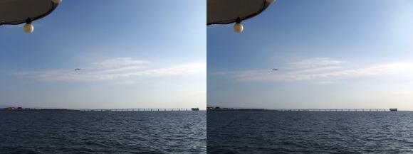 ファンタジー号からの眺め 神戸空港「マリンエア」離陸(交差法)