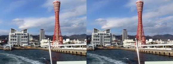ファンタジー号からの眺め メリケンパーク①(交差法)
