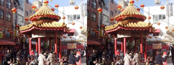 神戸南京町広場(交差法)