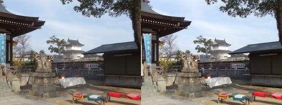 赤穂大石神社からの隅櫓(平行法)