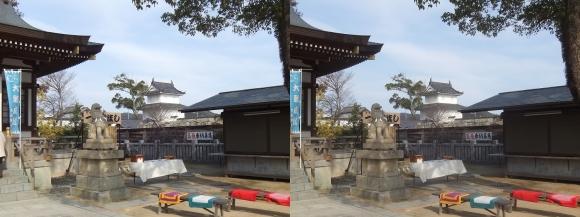 赤穂大石神社からの隅櫓(交差法)