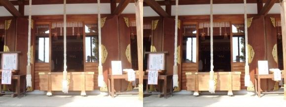 赤穂大石神社 社殿(平行法)