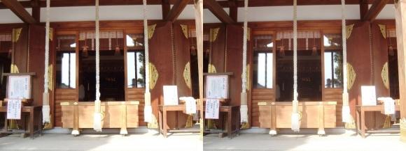 赤穂大石神社 社殿(交差法)